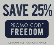 Save with promo code FREEDOM